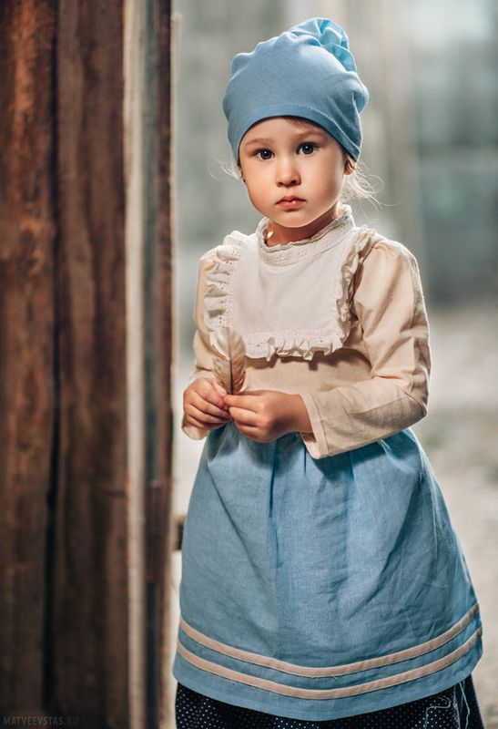 старина, деревня, девочка, перышко, дети Глашаphoto preview