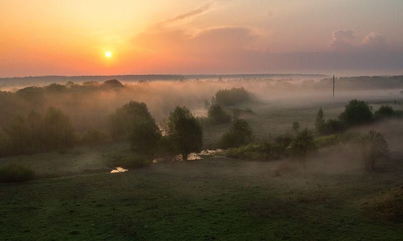 брянск, десна, хотылево, утро, рассвет, май,туман,алексей платонов Рассвет на Деснеphoto preview