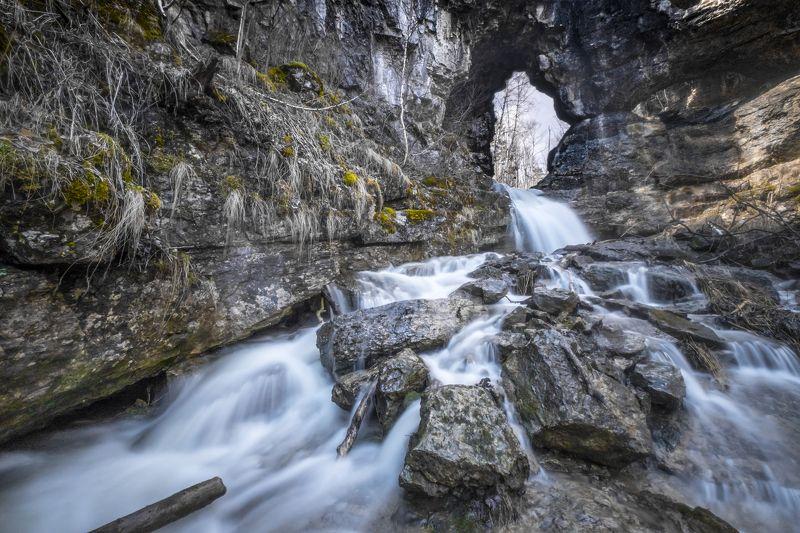 водопад, карст, выдержка, Башкирия Водопад на реке Куперляphoto preview