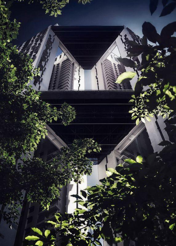город, архитектура, высотка, небоскреб, геометрия, сингапур, азия, мегаполис  Солярисphoto preview