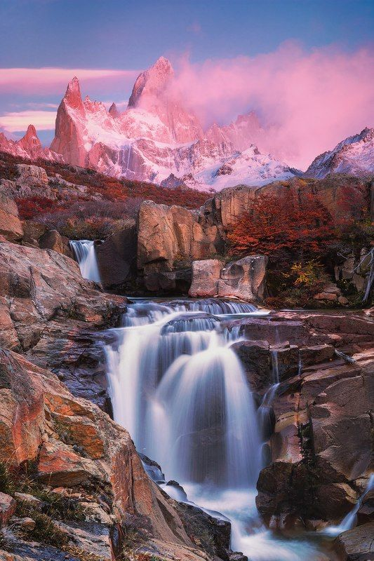 Mount Fitz Roy at sunrise, El Chalten. Patagonia. Argentina; Head in the Clouds. Langtang. Nepal; Golden music of the Garonne. Gateway Viguerie. Toulouse; Watercolor of rain. North Berwick. Scotland; Autumn in Los Glaciares National Park; White summer nigphoto preview