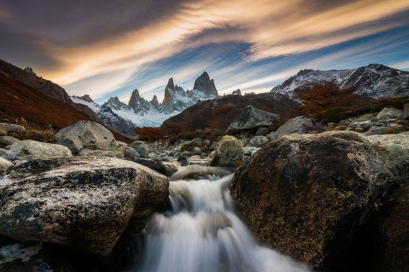 патагония, горы, закат, аргентина Небесаphoto preview