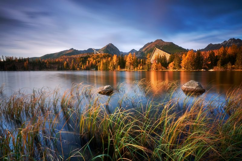 lake, strbske, slovakia, autumn Gold time in Strbske plesophoto preview