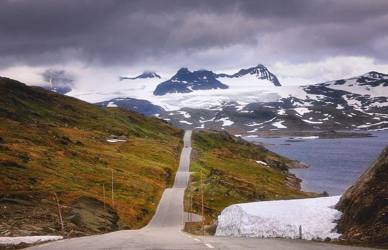 норвегия, лето, июль Скатертью дорожкаphoto preview