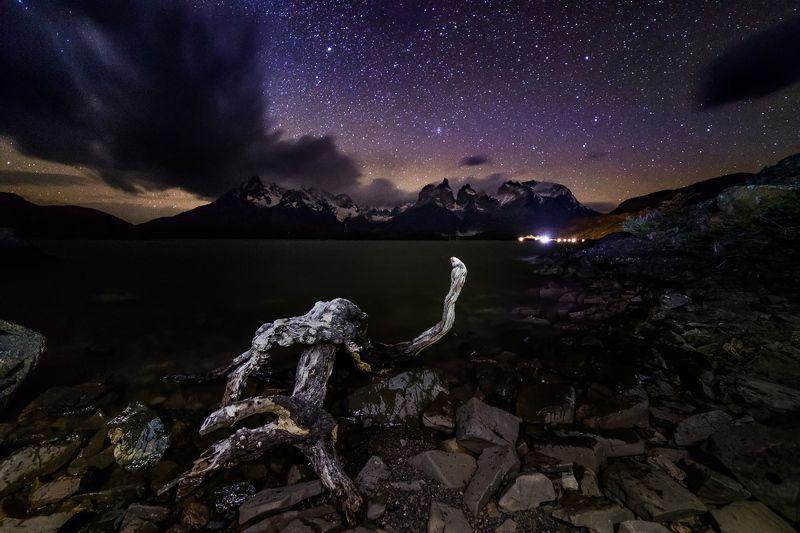 патагония, горы, рассвет, торрес дель пайне Тиха патагонская ночьphoto preview
