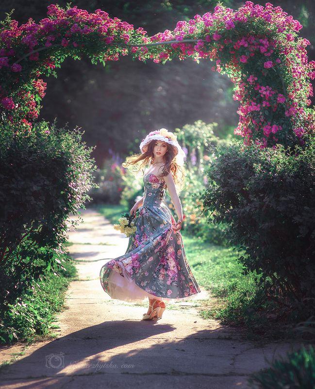 Солнце. Розы. Настя.photo preview
