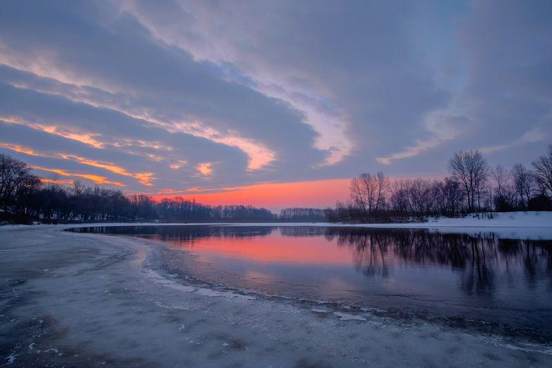 рассвет,река,пейзаж,утро,мороз,sunrise,landscape,nature,river,frost Рассветная геометрияphoto preview