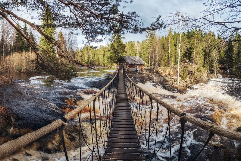 рускеальские водопады, карелия, рускеала, водопад, Рускеальские водопады в Карелииphoto preview
