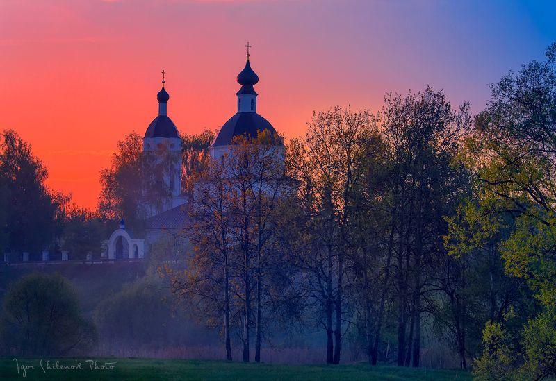 весна, закат, образцово с. Образцовоphoto preview