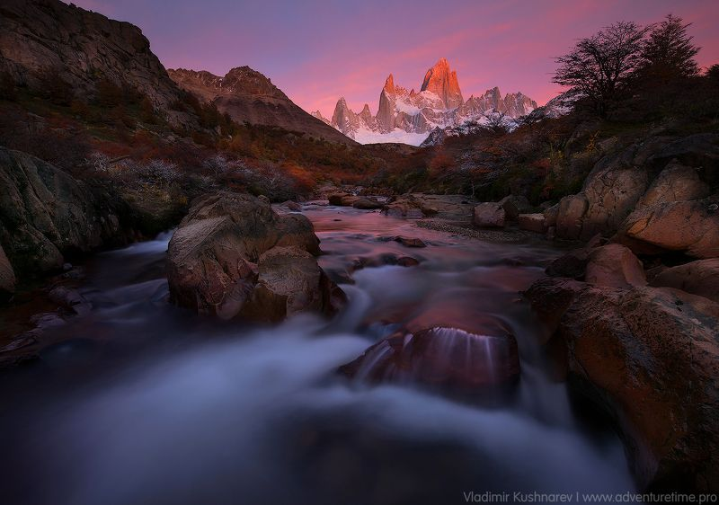 долина реки fitz roy. Долина реки Fitz Roy.photo preview