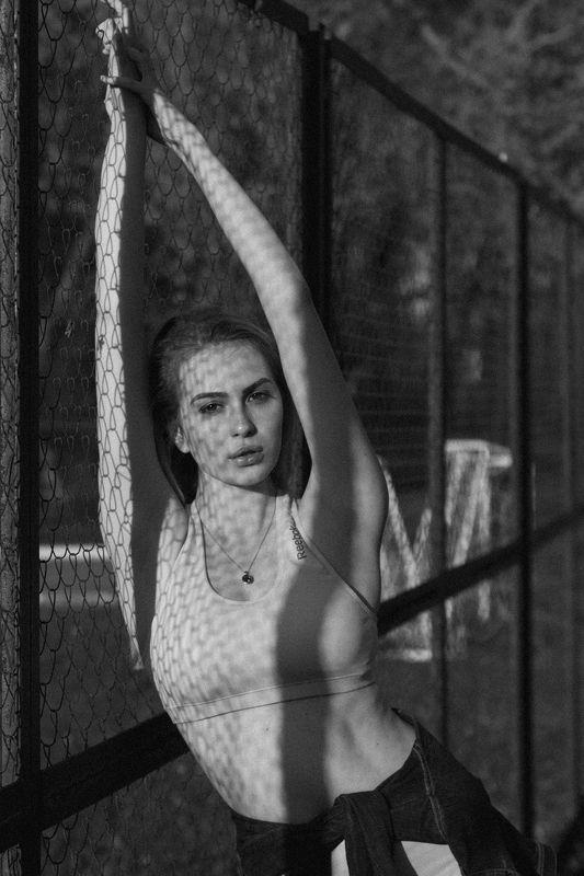 #girl #portrait #bw Физические занятияphoto preview