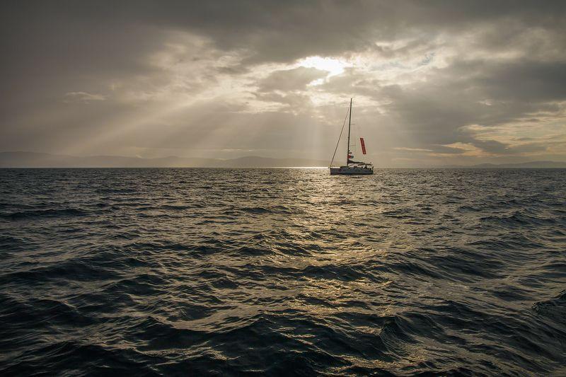 море, природа, путешествие, яхтинг, регата, рассвет, утро, morning, travel, traveling, sea, sunset, sailing Sailing timephoto preview