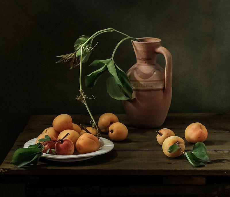 натюрморт, фрукты, still life Натюрморт с абрикосамиphoto preview