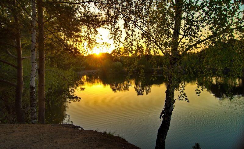 пейзаж,май,закат,солнце,водоём,весна,природа Майский закат...photo preview