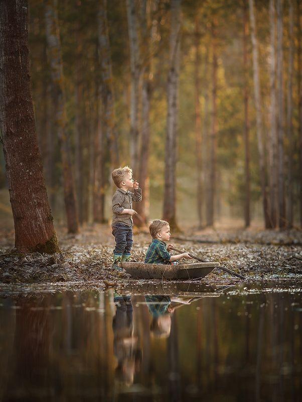 детство, природа, красота, озеро, приключения В поисках приключенийphoto preview