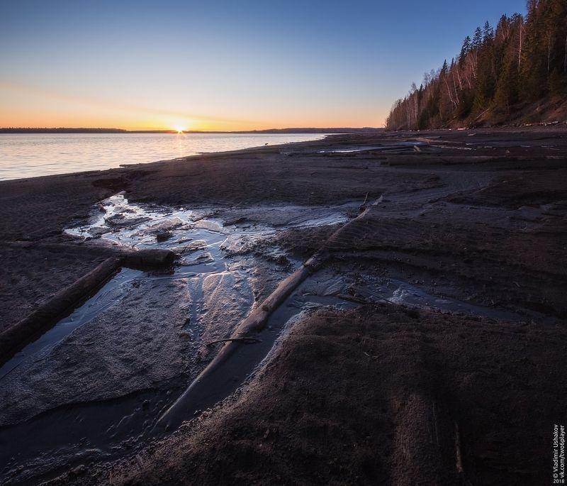 закат, солнце, вечер, берег, залив, кондас, пешково, пермский край Кондасский заливphoto preview