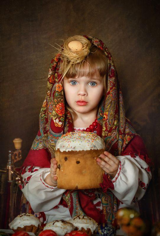 пасхальные фотосессии, дети Русская Пасхаphoto preview