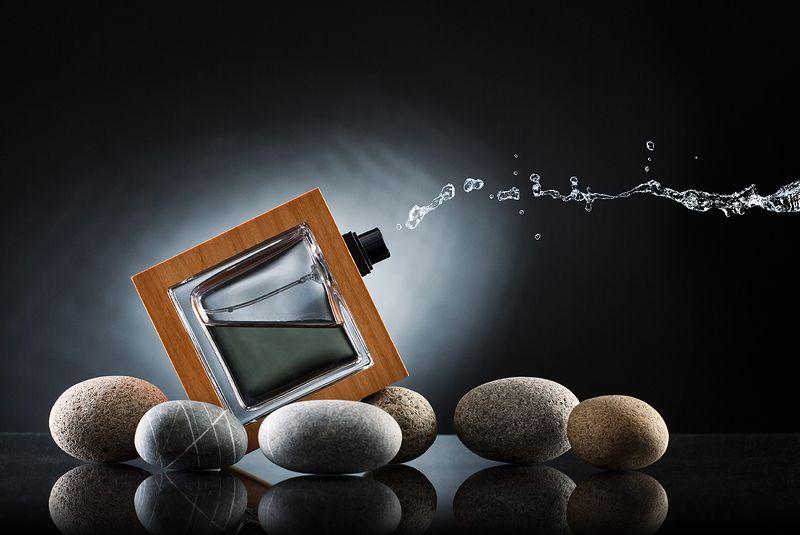 флакон, аромат, камень, стекло, реклама, Мужской парфюм.photo preview
