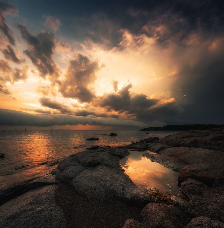 nature,sea, landscape, storm, cloud,sunset, water Storm is comingphoto preview