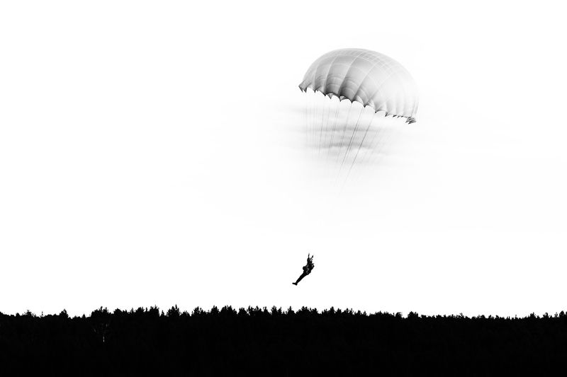 парашют, парашютист, графика, Парашют.photo preview