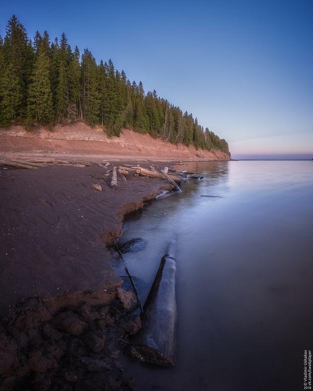вечер, берег, залив, кондас, пешково, пермский край На берегу Кондасского заливаphoto preview