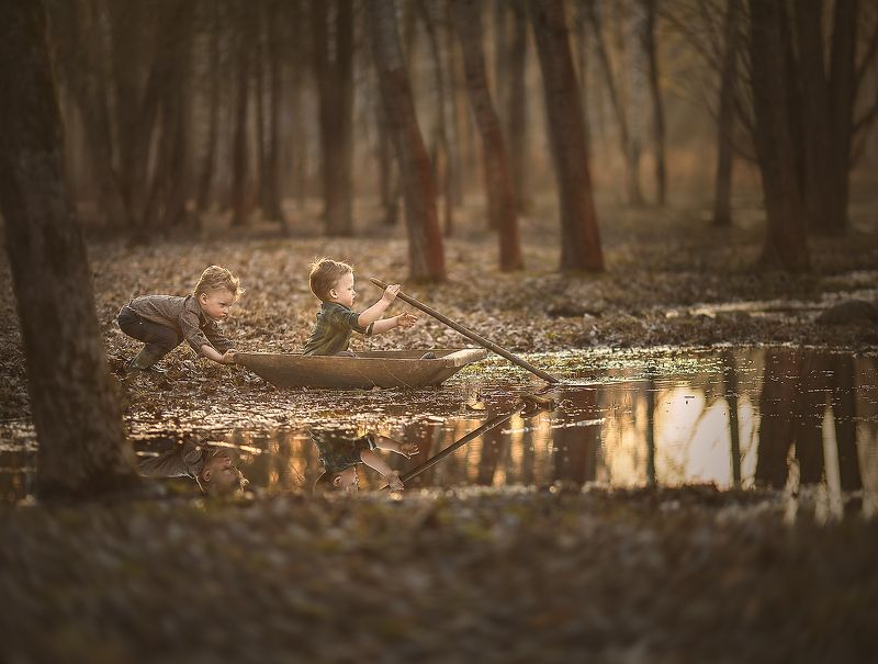детство, природа, красота, озеро, приключения, свет, солнце В поисках приключений 2photo preview