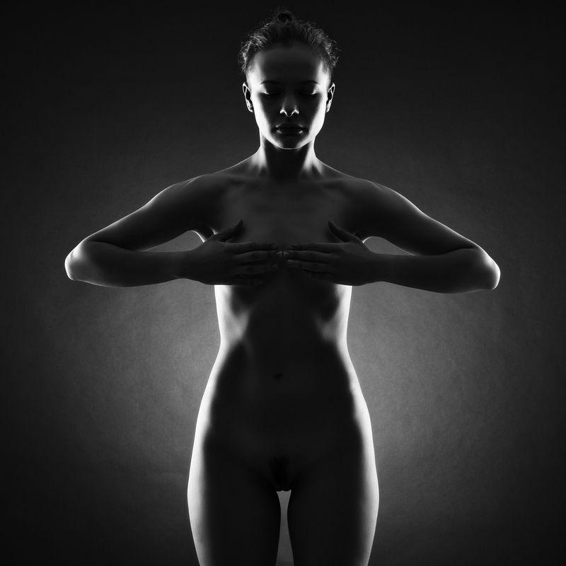 женщина, красота,  силуэт, ню, тело, Ню. Силуэт.photo preview