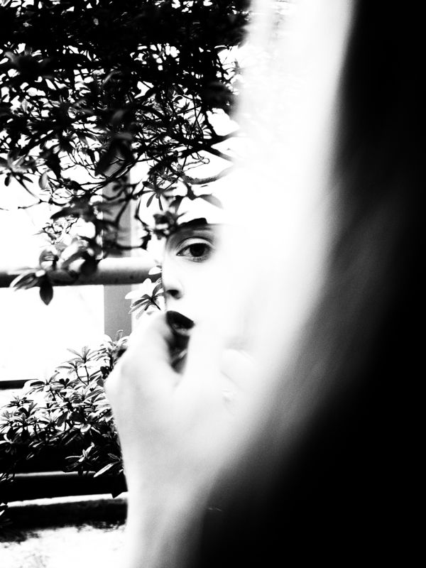 Moscow, Russia, Black and white, Monochrome, Portrait, Reflection, Mirror Jardin Noirphoto preview