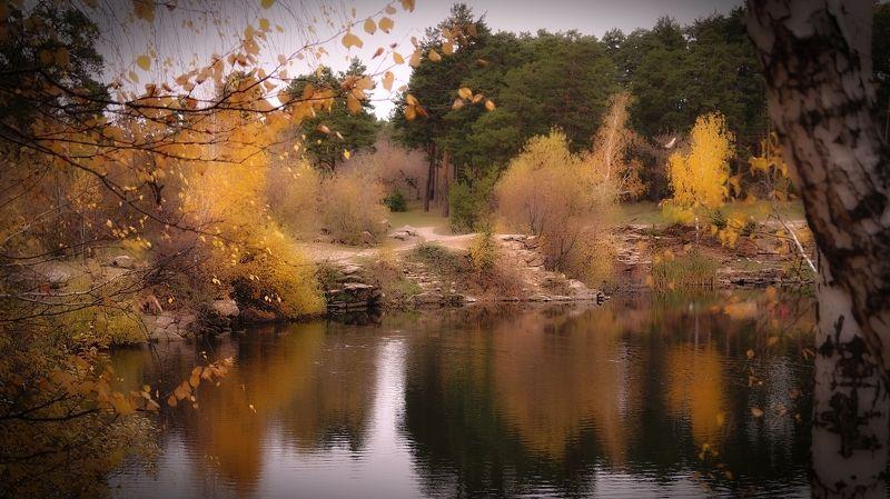 осень,пейзаж,водоём,природа,настроение Осенняя акварельphoto preview