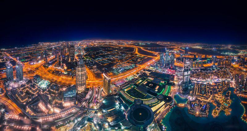 дубай, оаэ, эмираты, город, архитектура, небоскребы, ночь, dubai, uae, cityscape, architecture Ночной Дубайphoto preview