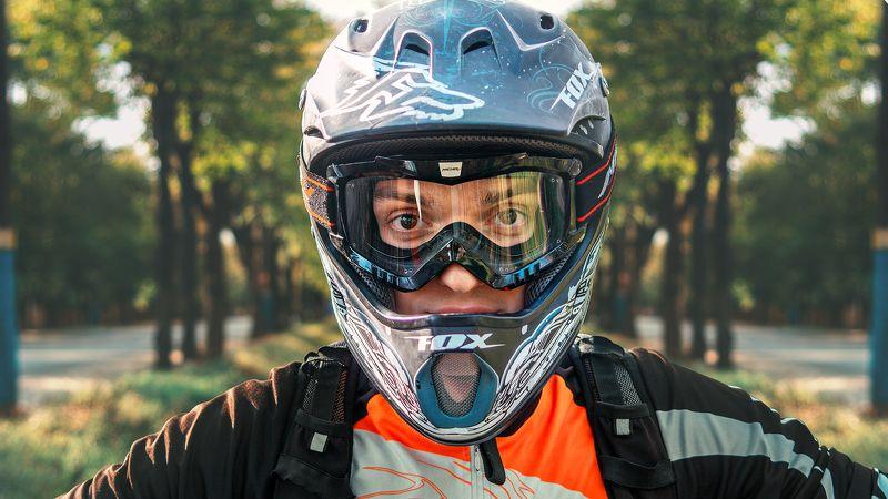 байкер,шлем,велосипед, Байкерphoto preview