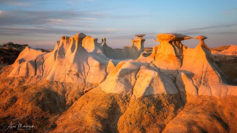 сша, пустыня, бэдлендс, глиняная, панорама, скалы, грибы, каменные Крыльяphoto preview
