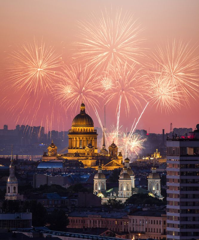 sain-petersburg, russia, fireworks,  День городаphoto preview