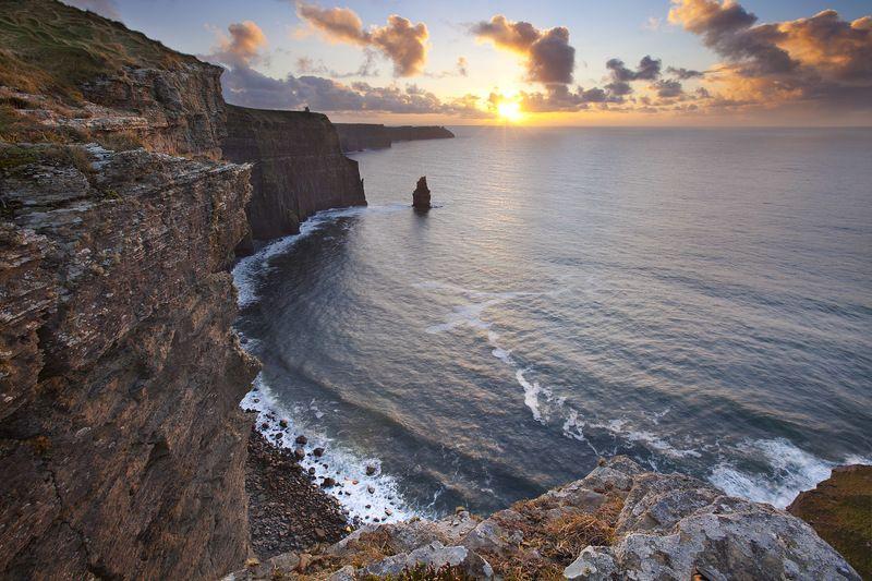 закат, ирландия, океан, скалы, небо, sunset, ireland, cliffs, ocean, sky photo preview
