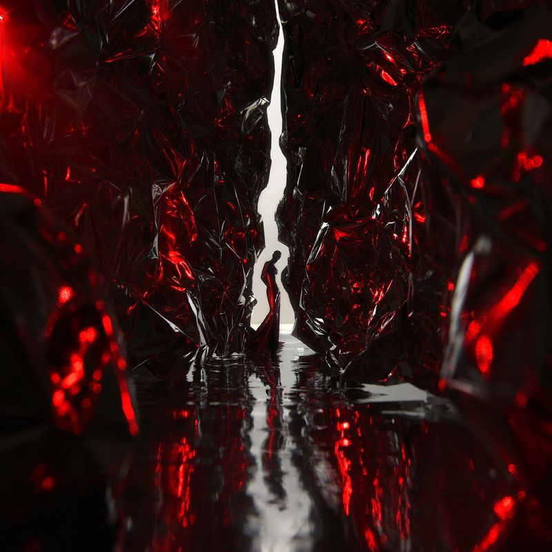 red,light,girl,metal,laser,queen,art,parishkov Red Queen photo preview