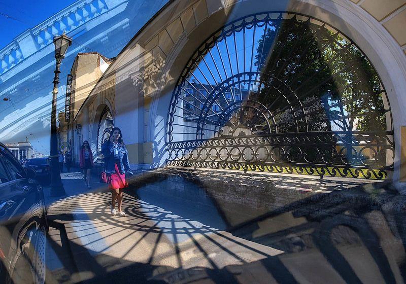 санкт-петербург, канал грибоедова, решетка, тени, солнце Солнечноеphoto preview