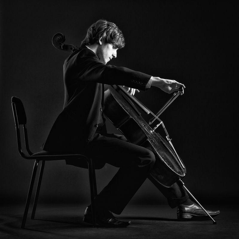 музыка, виолончель, портрет, Музыкант.photo preview