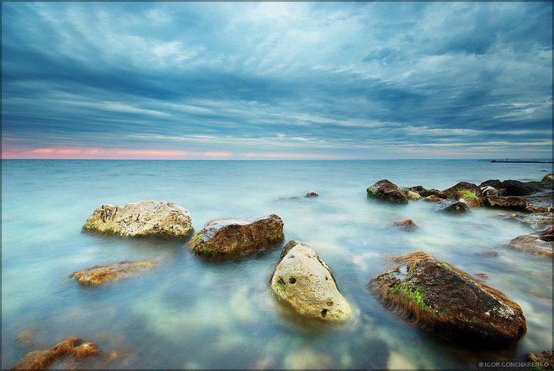 море, пейзаж, крым, закат, ***photo preview