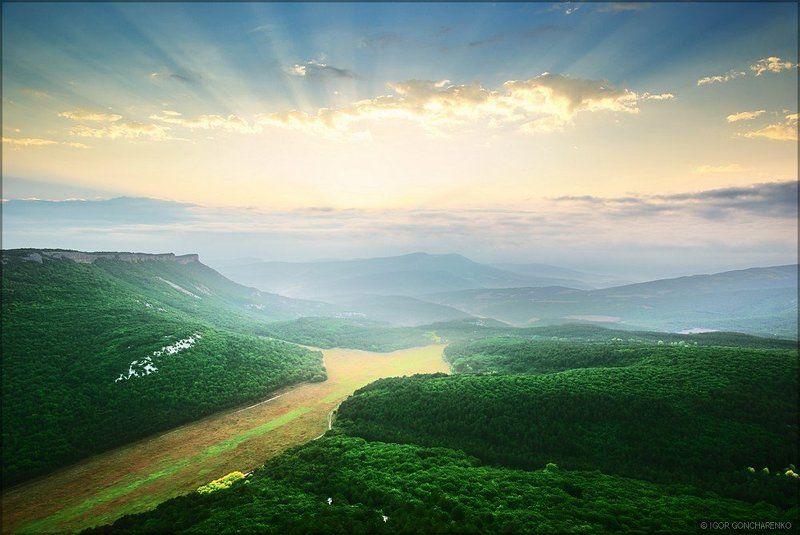 пейзаж, крым, горы, мангуп Утренее благоphoto preview