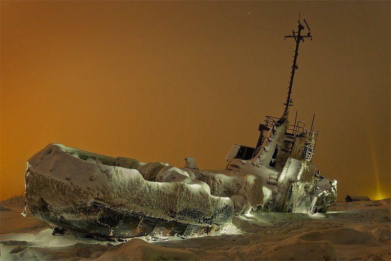 корабль, снег, ночь Начиналась метельphoto preview