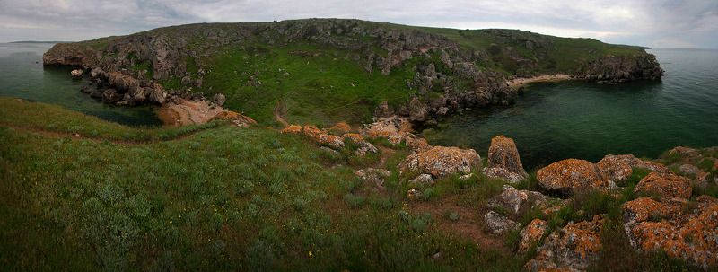 крым, весна, море Зеленый майphoto preview