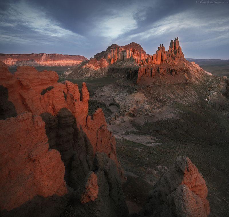 казахстан, айракты, мангышлак, мангистау, рассвет Долина замков Айрактыphoto preview
