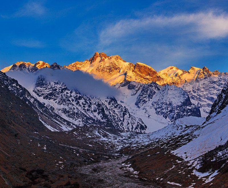 северный кавказ Утро на перевале...photo preview