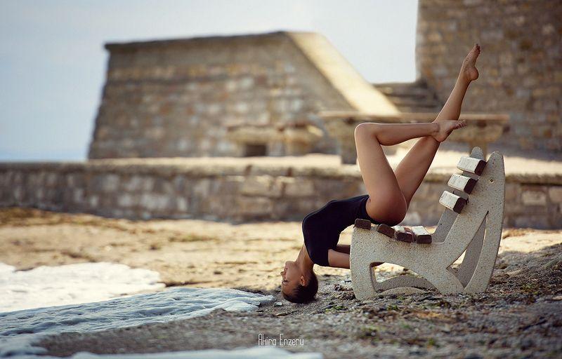 ballerina, dance, dancing, portrait, street, outdoor Несебър, България IVphoto preview