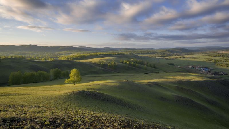 утро, рассвет, восход, туман, лучи Уральские зориphoto preview