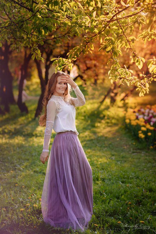 портрет, прогулка, закат Вечернее солнышкоphoto preview