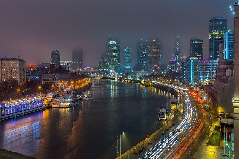 москва столица sony moscow msk russia россия urban landscape Туманный декабрьский вечерphoto preview