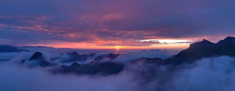 #закат #туман #облака  туманы под Асбестнойphoto preview