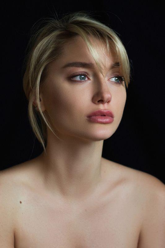 красота, девушка, портрет, portrait, b&w, blackandwhite, черно-белое, чб Аннаphoto preview