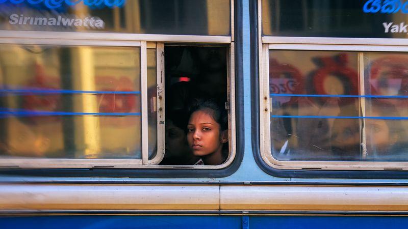 дорога, автобус, канди, шри-ланка, девушка, взгляд в окне Взгляд в окне 2.photo preview
